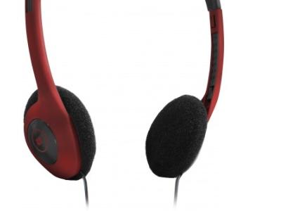 headphone defender hn-001 red+microphone