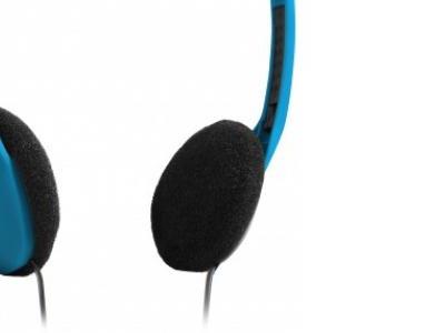 headphone defender hn-001 blue+microphone