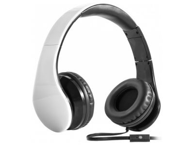 headphone defender hn-047 white+microphone