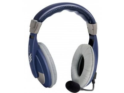 headphone defender hn-750 blue+microphone