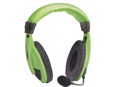headphone defender hn-750 green+microphone