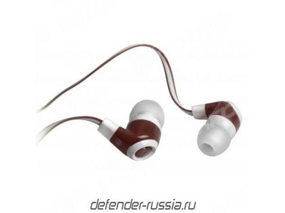 headphone defender pulse-430 white-red+microphone