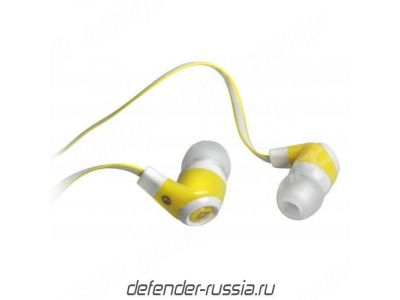 headphone defender pulse-430 white-yellow+microphone