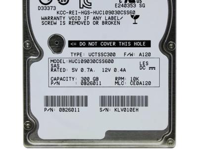 serverparts hdd hitachi 300 huc109030css600 sas2-0