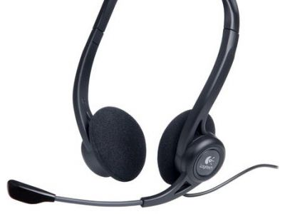 discount headphone logitech pc-headset-960 stereo usb badpack