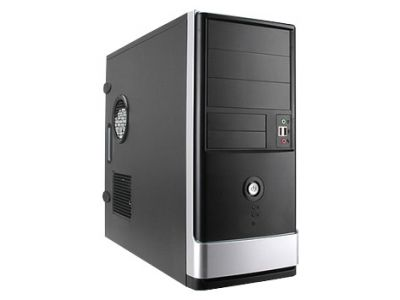 case inwin ear002 ip-p750bk3-3 black-silver