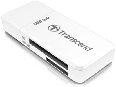 flash cardreader transcend ts-rdf5w white