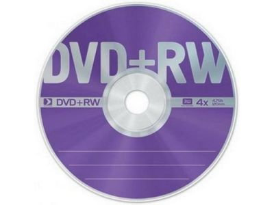 media dvd+rw datastandard 4g7 4x cake25