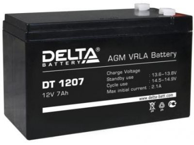 ups battery delta dt1207 12v 7ah