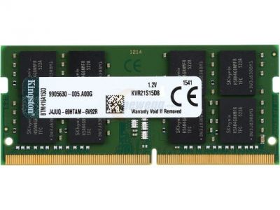 nbram ddr4 8g 2133 kingston kvr21s15s8-8