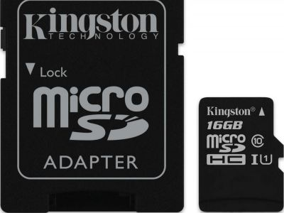 flash microsdhc 16g class10 uhs-1 kingston sdc10g2-16gb