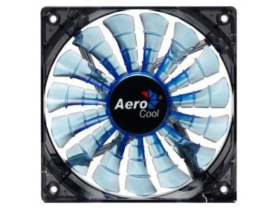 cooler aerocool sharkfan 12cm blue