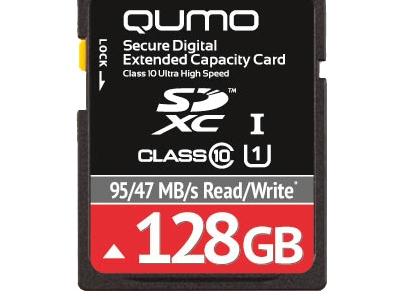 flash sdxc 128g class10 uhs-1 qumo qm128gsdxc10u1