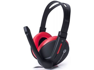headphone marvo h8312bk+rd+microphone