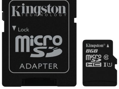 flash microsdhc 8g class10 uhs-1 kingston sdc10g2-8gb