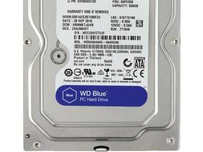 Жесткий диск 500GB, SATA-III, WD, WD5000AAKX-FR