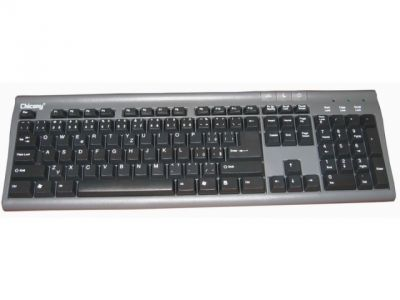 kbd chic kb-9810 black-silver ps