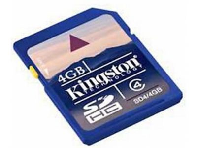flash sdhc 4g class4 kingston