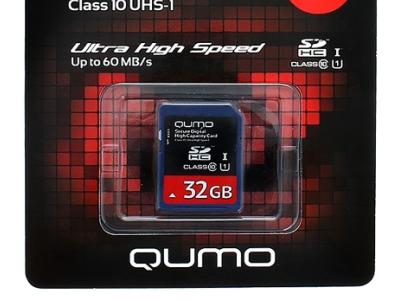 flash sdhc 32g class10 uhs-1 qumo qm32gsdhc10u1