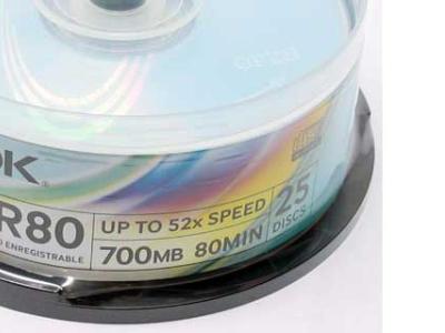 media cdr tdk 700 52x cake25