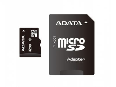 flash microsdhc 32g class10 a-data adapter