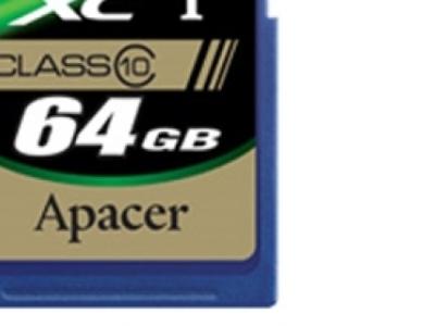 flash sdxc 64g class10 apacer ap64gsdxc10-r