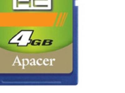 flash sdhc 4g class4 apacer ap4gsdhc4-r