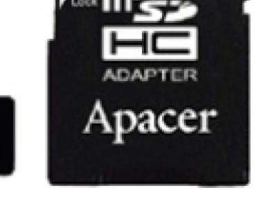 flash microsdhc 8g class10 apacer ap8gmcsh10-r adapter