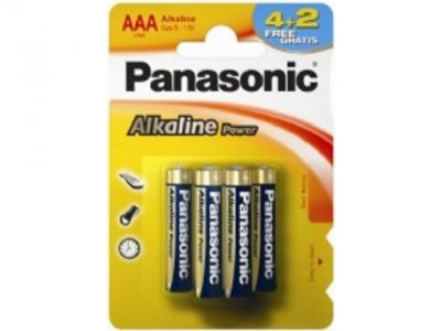 other battery panasonic alkaline lr03-6bp