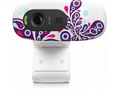 webcam logitech quickcam c270hd 960-000918 white paisley