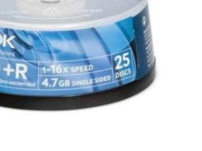 media dvd+r tdk 4g7 16x bulk25