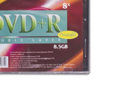 media dvd+r vs 8g5 8x inc-print double-layer slim5