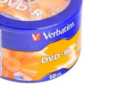 media dvd-r verbatim 4g7 16x matt-silver bulk50