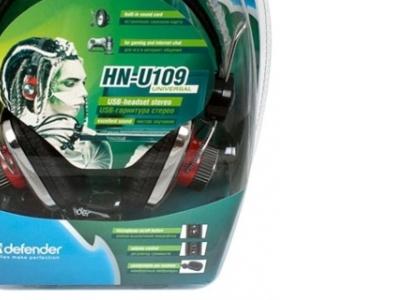 headphone defender u-109+microphone usb