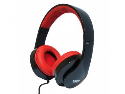 headphone dialog hs-a21m+microphone black-red