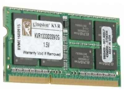 nbram ddr3 2g 1333 kingston kvr1333d3s9/2g
