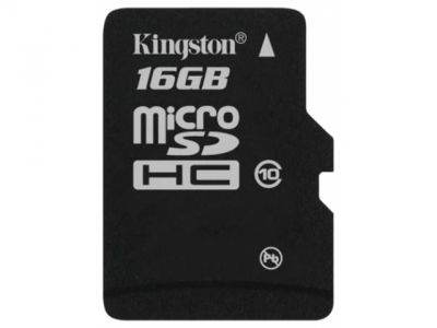 flash microsdhc 16g class10 kingston sdc10-16gbsp