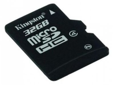 flash microsdhc 32g class4 kingston sdc4/32gbsp