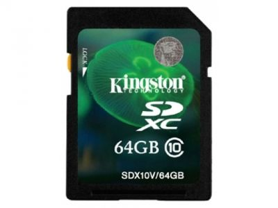 flash sdxc 64g class10 kingston sdx10v-64gb