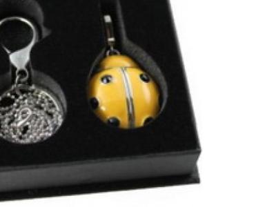 usbdisk qumo charm 8g ladybird-yellow