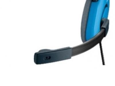 headphone logitech stereo headset h130 black-blue