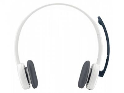 headphone logitech stereo headset h150 cloud-white