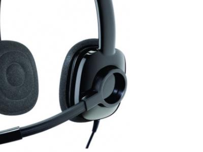 headphone logitech stereo headset h250 blue