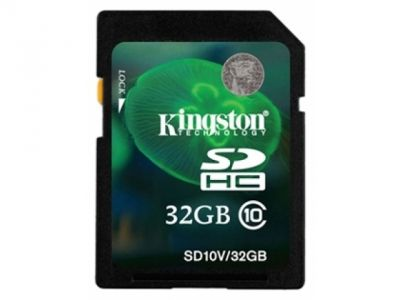 flash sdhc 32g class10 kingston sd10v-32gb