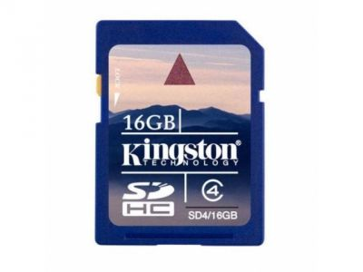 flash sdhc 16g class4 kingston