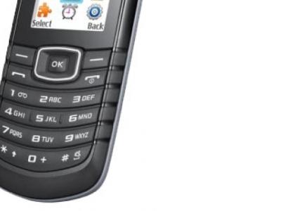 phone samsung e1080i black