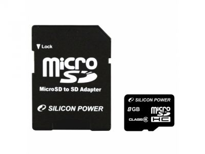flash microsdhc 4g class6 silicon power sp004gbsth006v10-sp