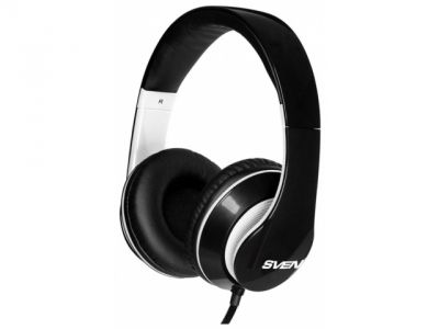 headphone sven ap-940mv black-white+microphone