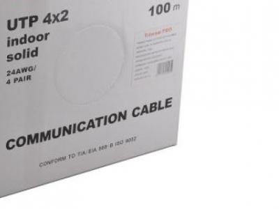 cable utp 5e buhta100 telecom-pro utp4-tc100c5epro-cca-is