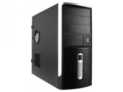 case inwin ear001 rb-s450hq7 black-silver